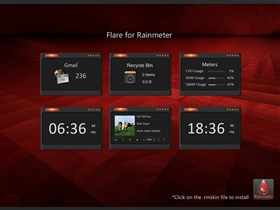 Flare Dark Rainmeter