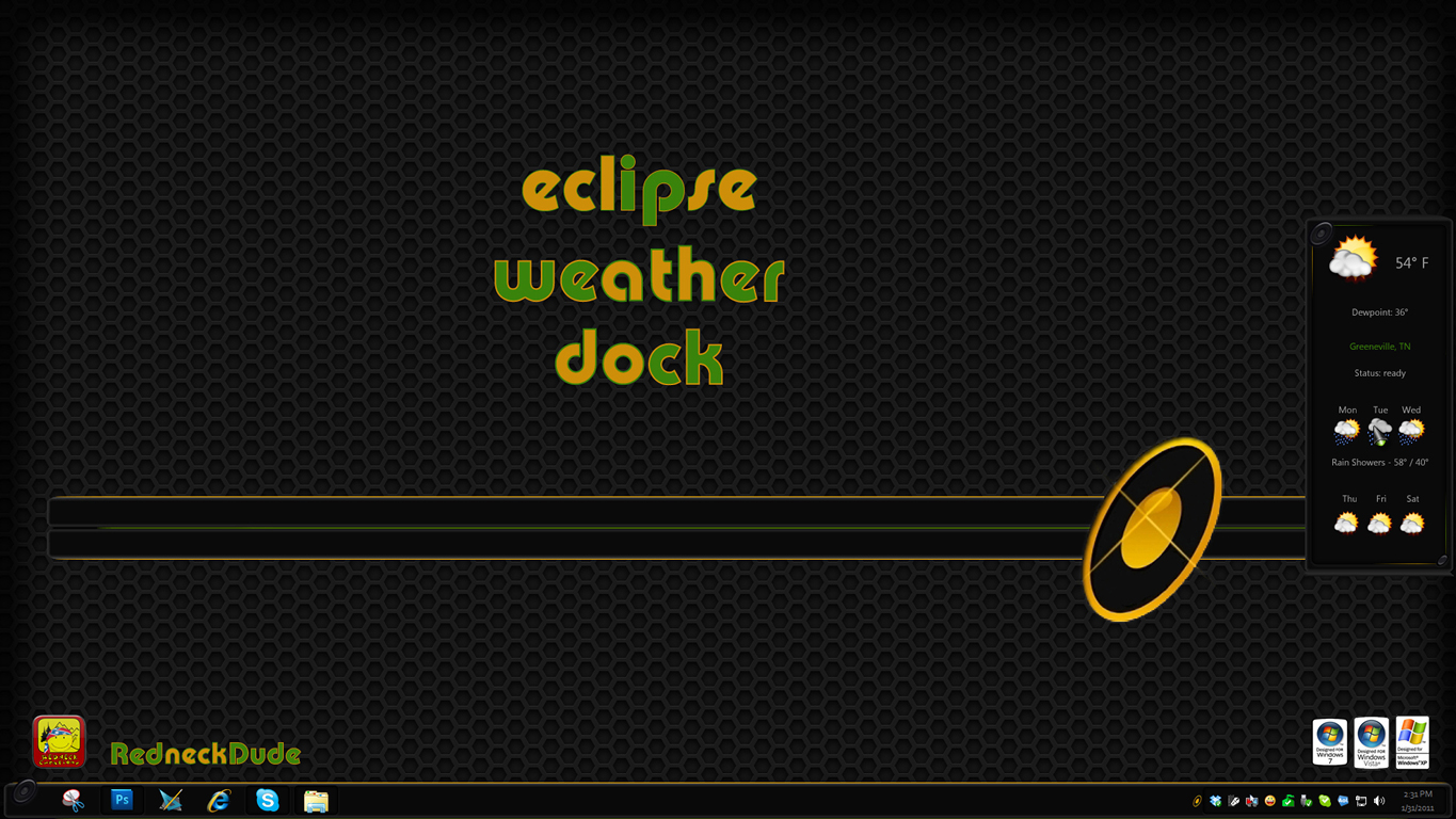 Eclipse Weather Dock Widget