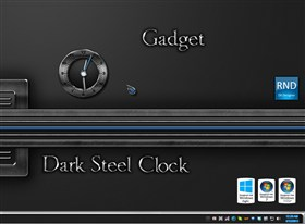 Dark Steel Clock Gadget