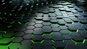 4K Hexagons Green