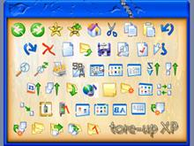tore-up XP toolbar icons