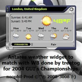 Antares Weather Widget