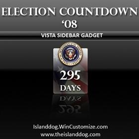 Election Countdown '08 - Sidebar