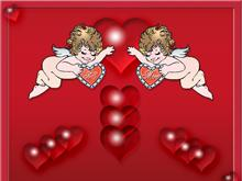Valentines Hearts and Cupids
