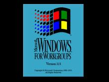 Windows for Workgroups 3.11 bootscreen