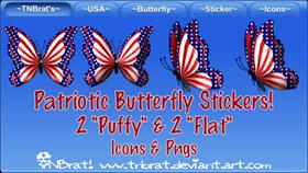 Patriotic Butterfly Stickers