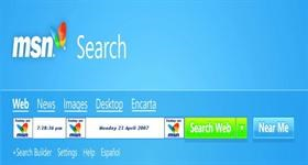 MSN Search Clock